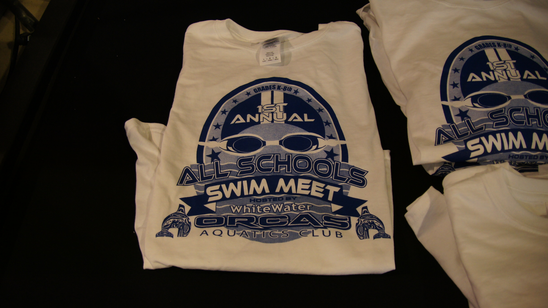 Screen printing for white water aquatics seattle screen for Seattle t shirt printing
